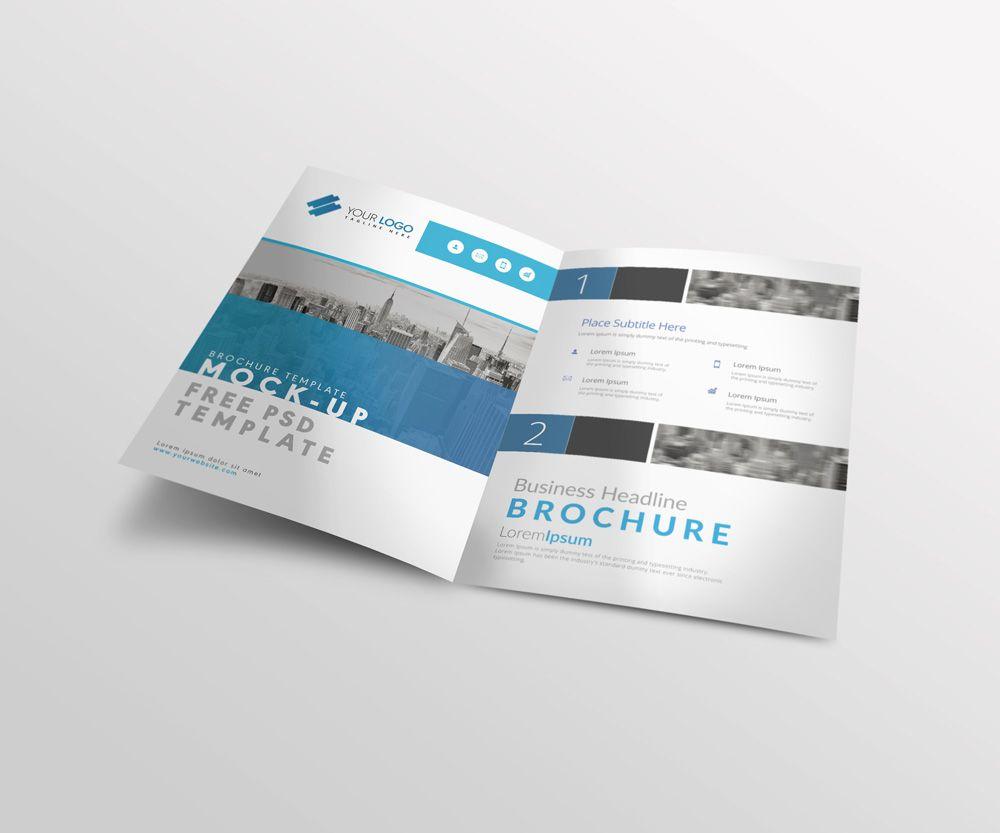 Bi Fold A4 Brochure Mock Up Psd Template Free Brochure Template Brochure Template Psd Brochure Template