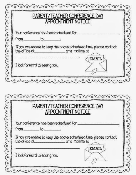 Mrs Terhuneu0027s First Grade Site! Ready for Parent\/Teacher - conference sign up sheet template