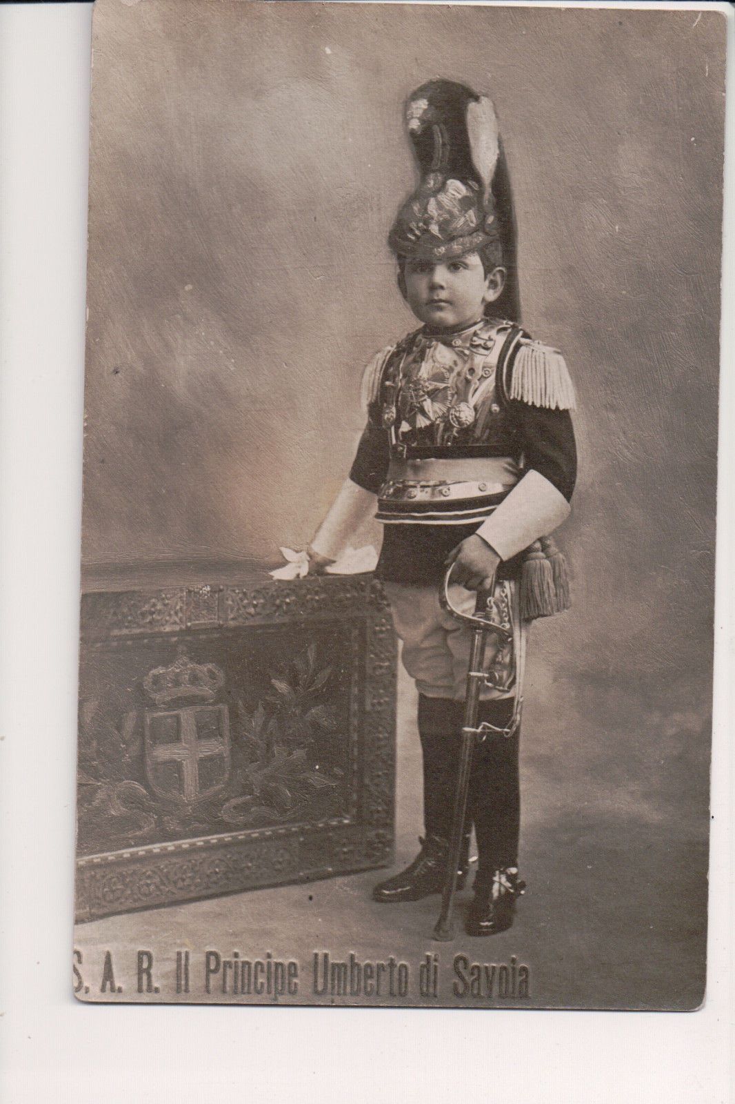 Umberto Was The Only Son Of The Five Children Ofking Victor Emmanuel Iii Andqueen Elena In An Effort To Repair Young Prince Vintage Postcard Military Uniform