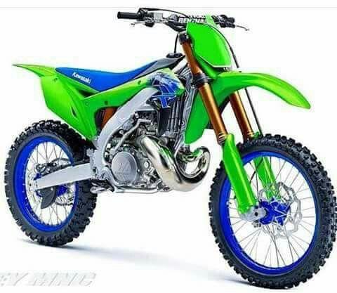 Nice Colour Scheme Kawasaki Dirt Bikes Motorcross Bike Motocross Bikes
