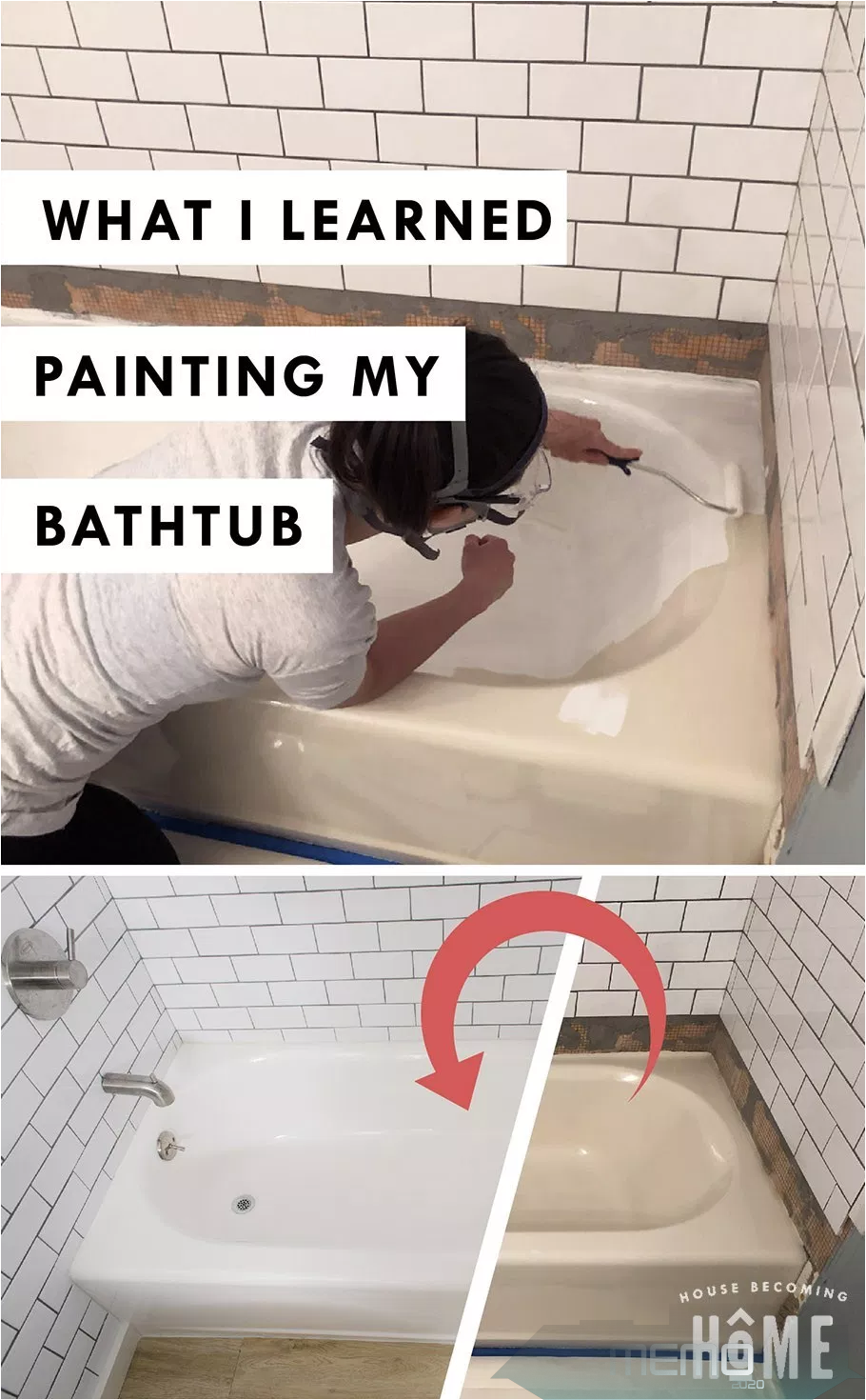 Jun 7 2019 How To Paint An Outdated Bathtub With An Affordable Refinishing Kit Review Of Rustole In 2020 Selbstgebaute Badewanne Badewanne Streichen Badezimmer Diy