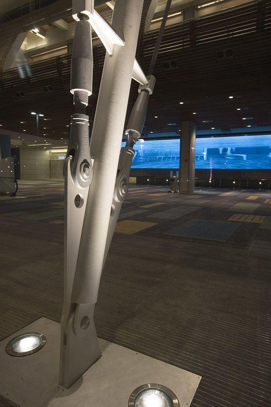 Virginia Beach Convention Center - Ingrade Uplight at Bow Truss
