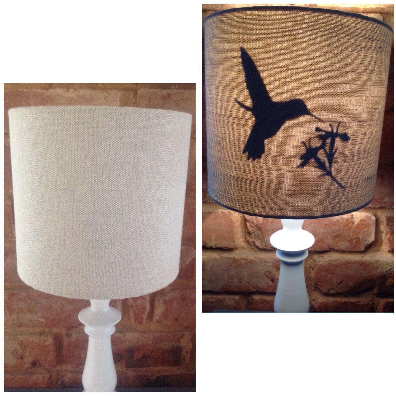 L A M P S H A D E Secret Bird Lampshade Handmade 20cm Drum Table