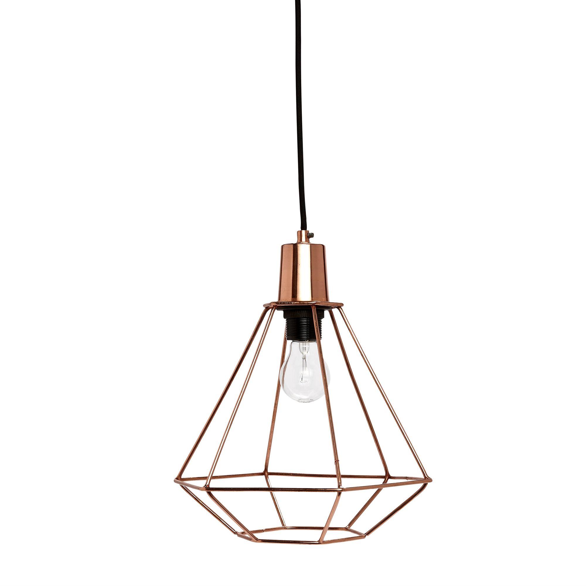 sk n diamant kobber lampe fra h bsch br ndum interi r interior design pinterest. Black Bedroom Furniture Sets. Home Design Ideas