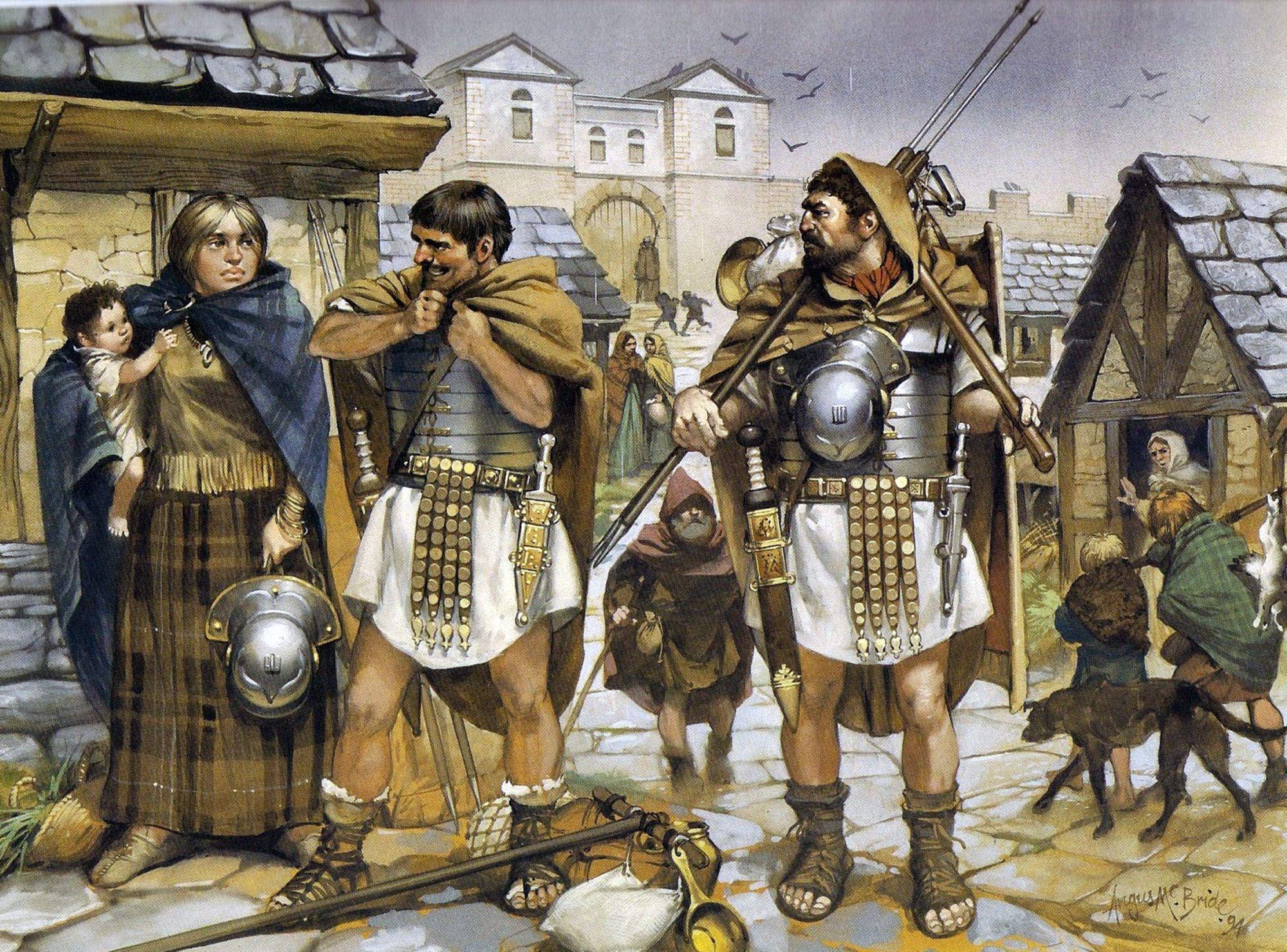 Roman Legionaries in Britainnia