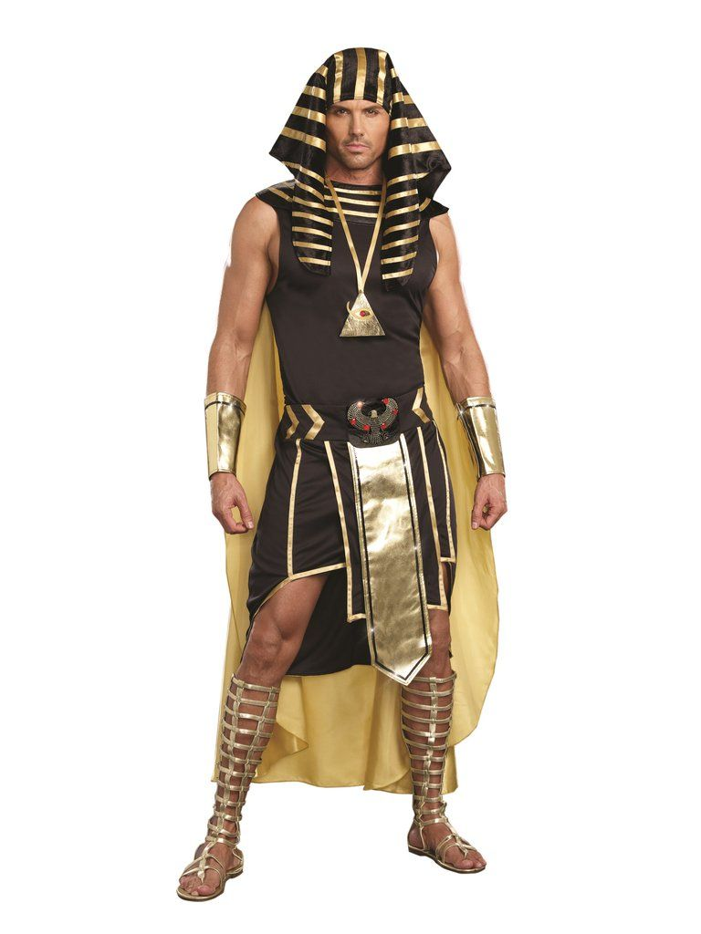 Brand New Egyptian Ancient God Pharoah Anubis Adult Costume