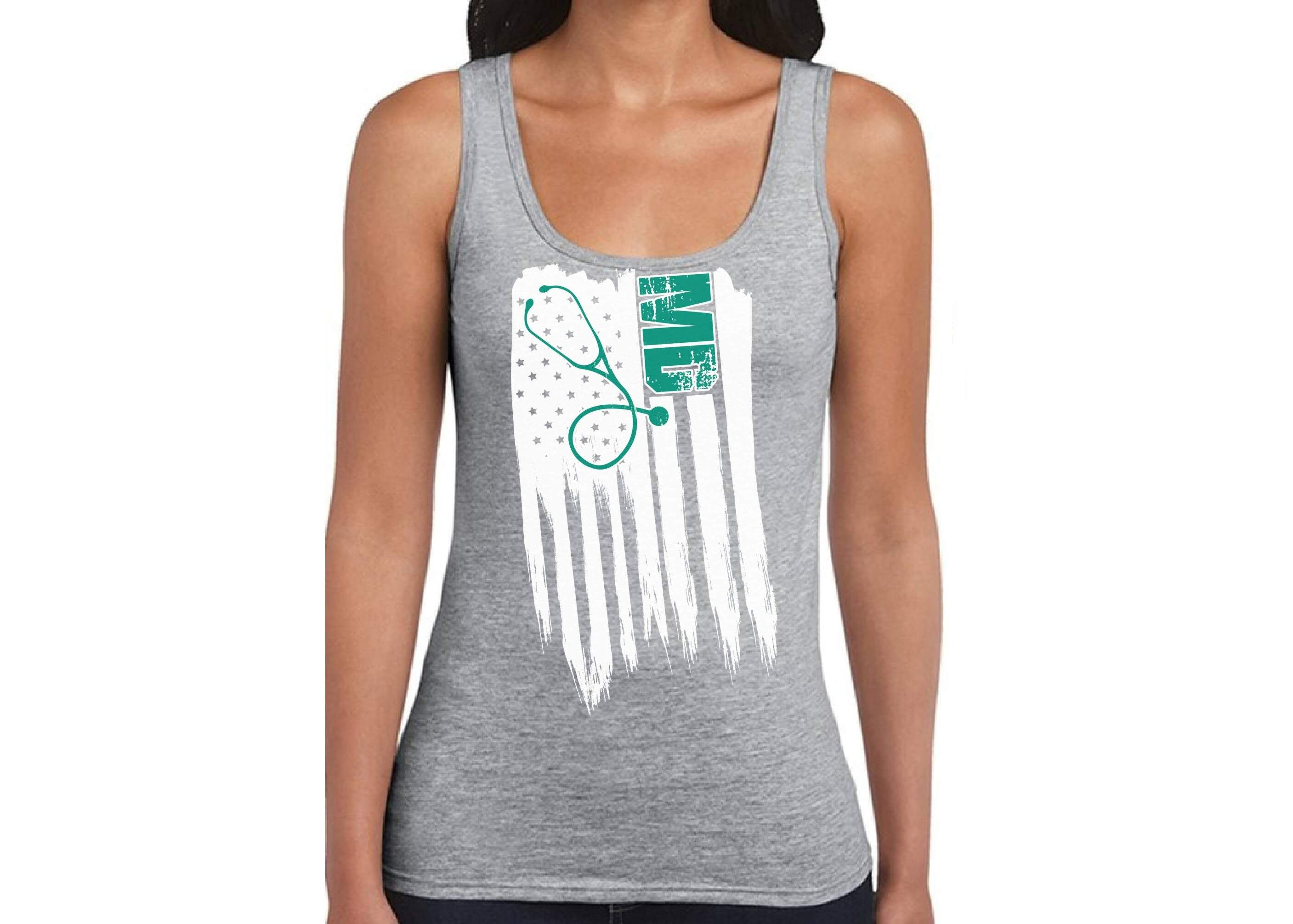 MD Medic Women's 100% Cotton Tank Top Summer First Responder Proud Shirt 1