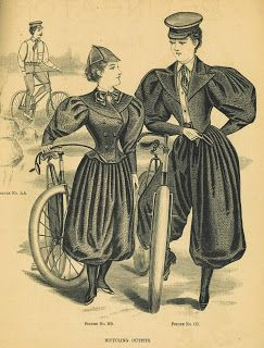 1890s Bicycle Advertisement Knickerbockers Bloomers On