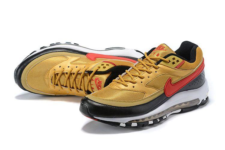 nike air max 97 university red/metallic gold/white
