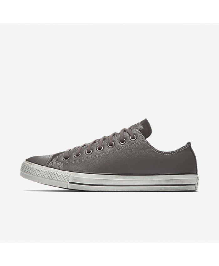 1b01acb62e41 Converse Chuck Taylor All Star Leather Low Top Grey 159018C-020 ...