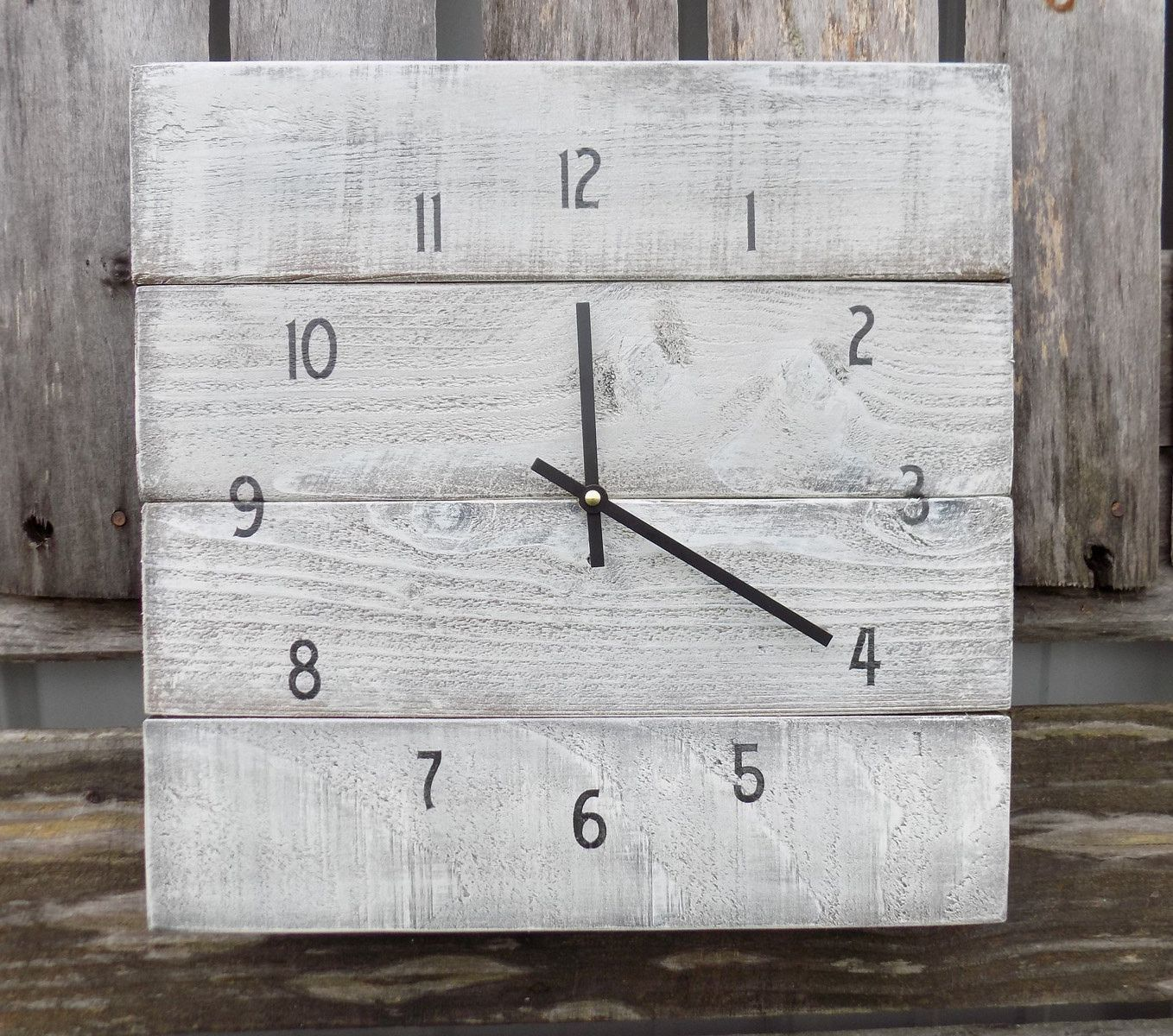 This primitive style clock has first been