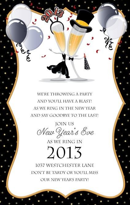 new year celebration invitations newyearseve holiday party invitation