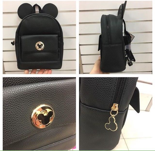 New Primark Disney Mickey Mouse Ears Black Rucksack Ladies Backpack Girls  Bag  80b34cc95