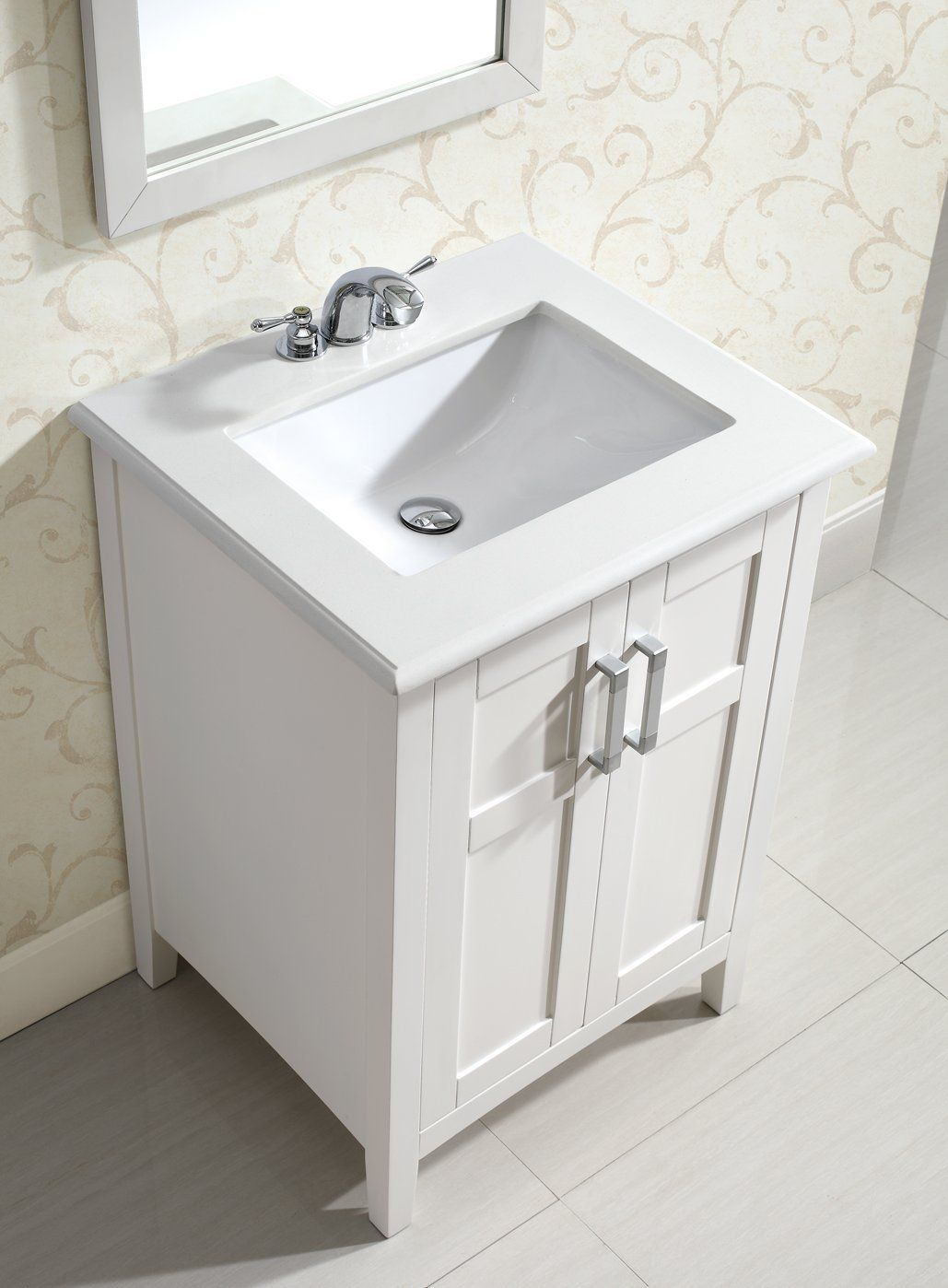 24 W X 35 H Simpli Home Winston 24 Bath Vanity White Vanity Sinks Amazon Com 24 Inch Bathroom Vanity Marble Vanity Tops Single Bathroom Vanity