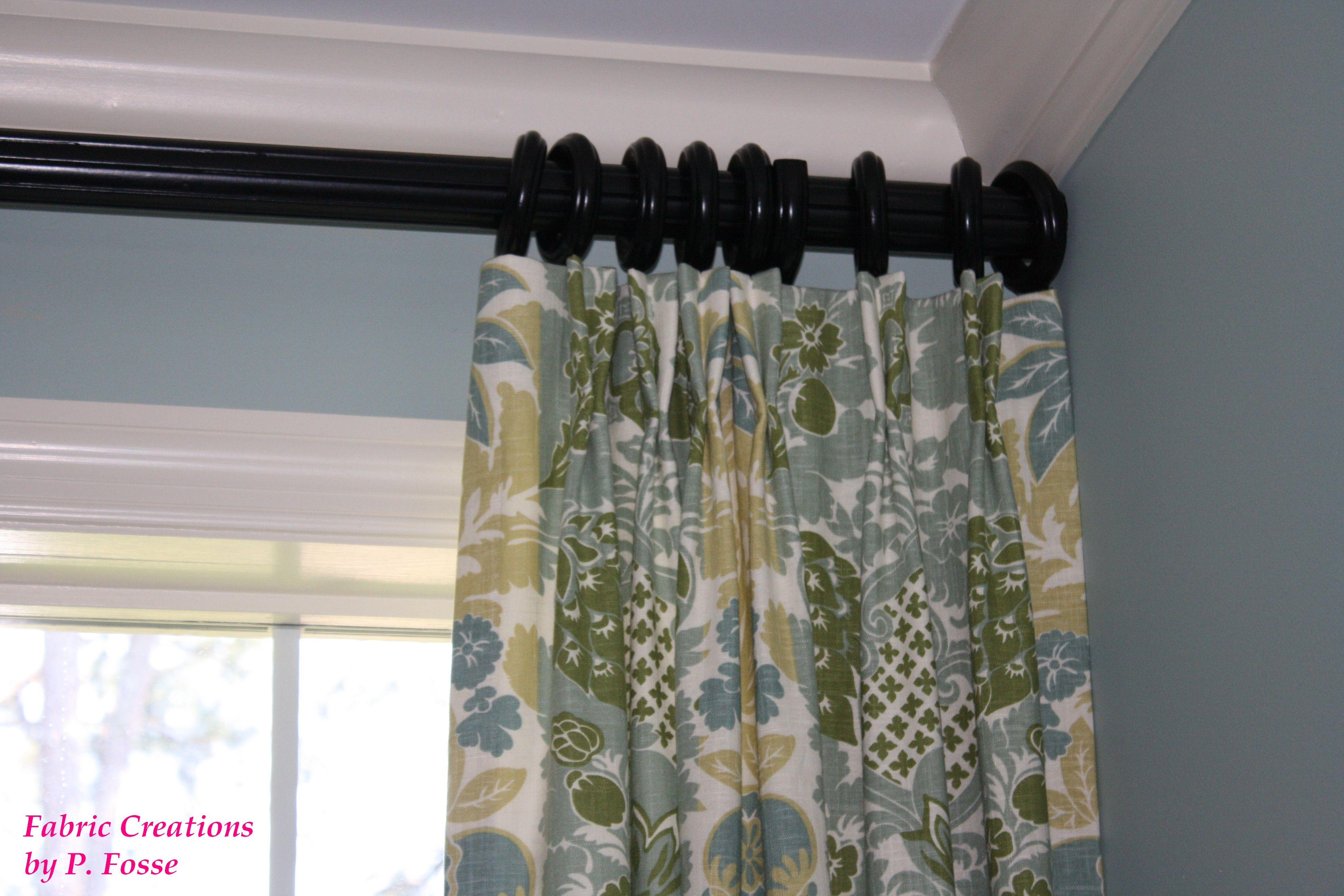 Butterfly pleated panels by fabric creations curtains drapery