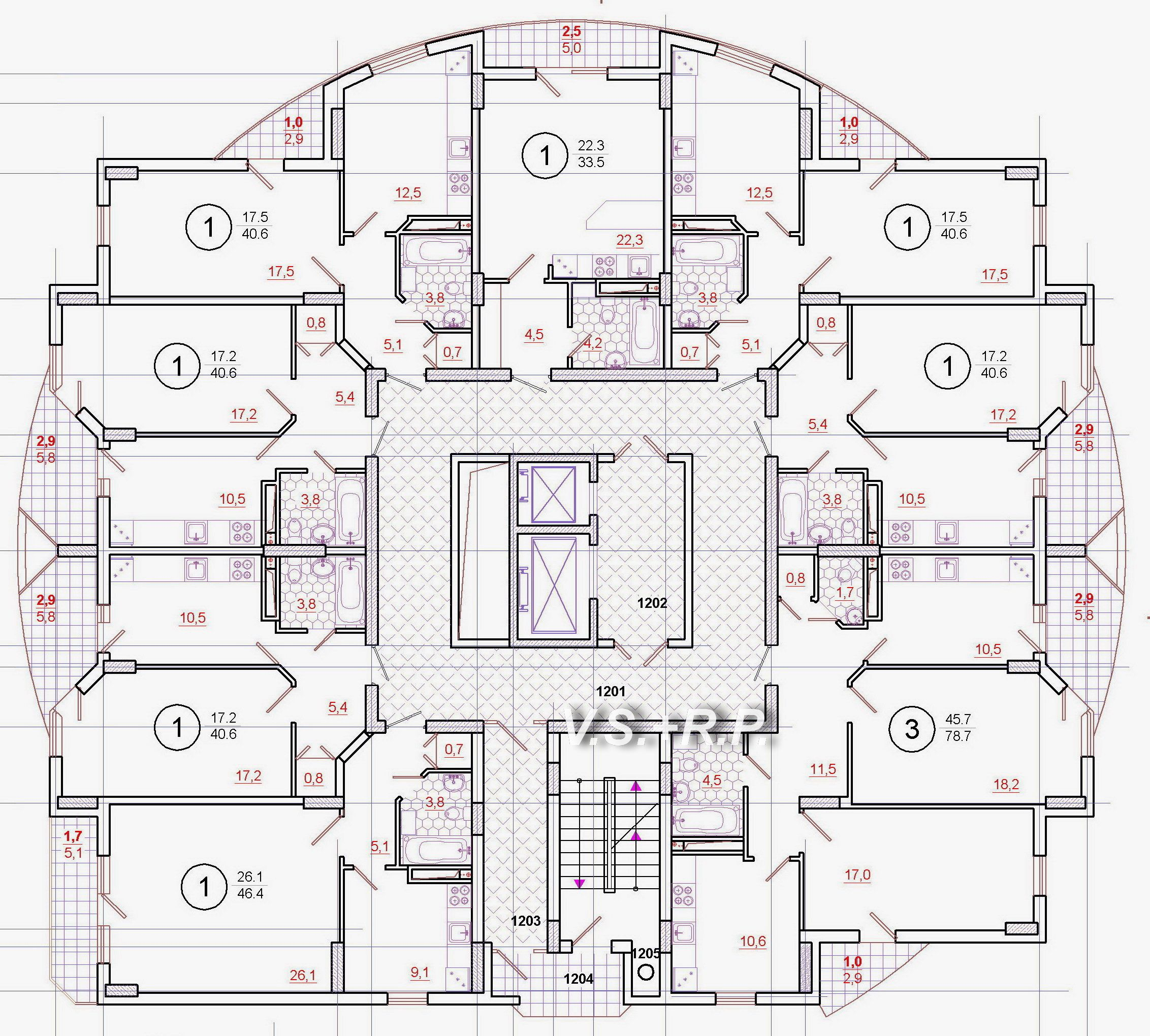 17 Ti Et Zh D Residential Building Plan 2bhk House Plan New House Plans