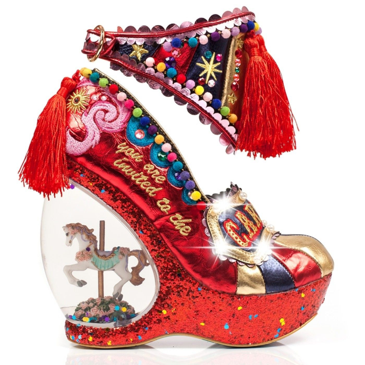 Romance your feet in these outstanding snow globe carousel