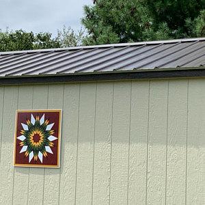 Barn Quilt, light weight, easy to install Sunflower Barn Quilt , 3 sizes, or custom #sunbonnetsue