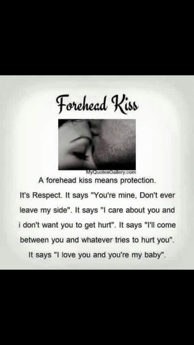 Meaning of kiss on the forehead