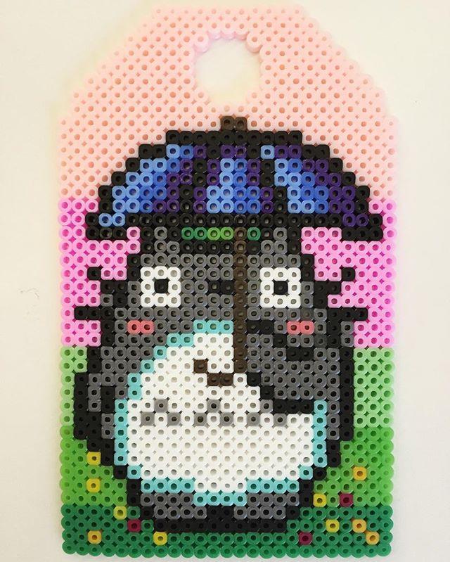 Totoro perler beads by shelshelistic