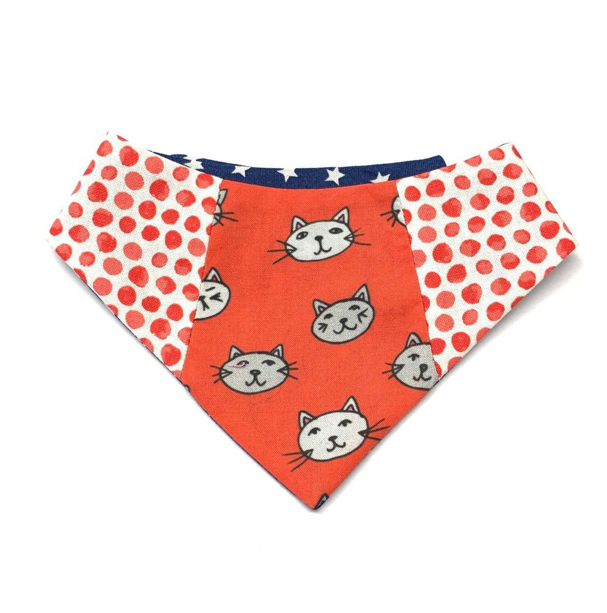 Cat Bandana Collar, Kitties, Dots and Stars, Stylish Cat