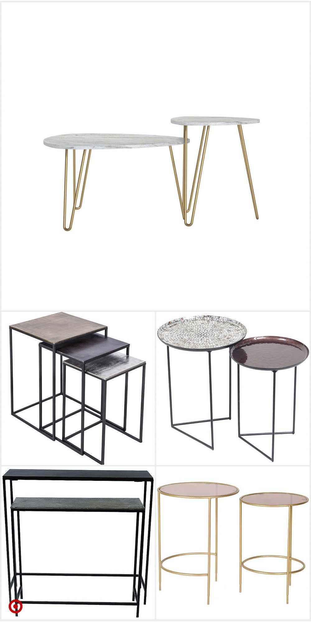 Shop Target For Nesting Tables You Will Love At Great Low Prices Free Shipping On Orde Interior Design Living Room Modern Nesting Tables Furniture Side Tables