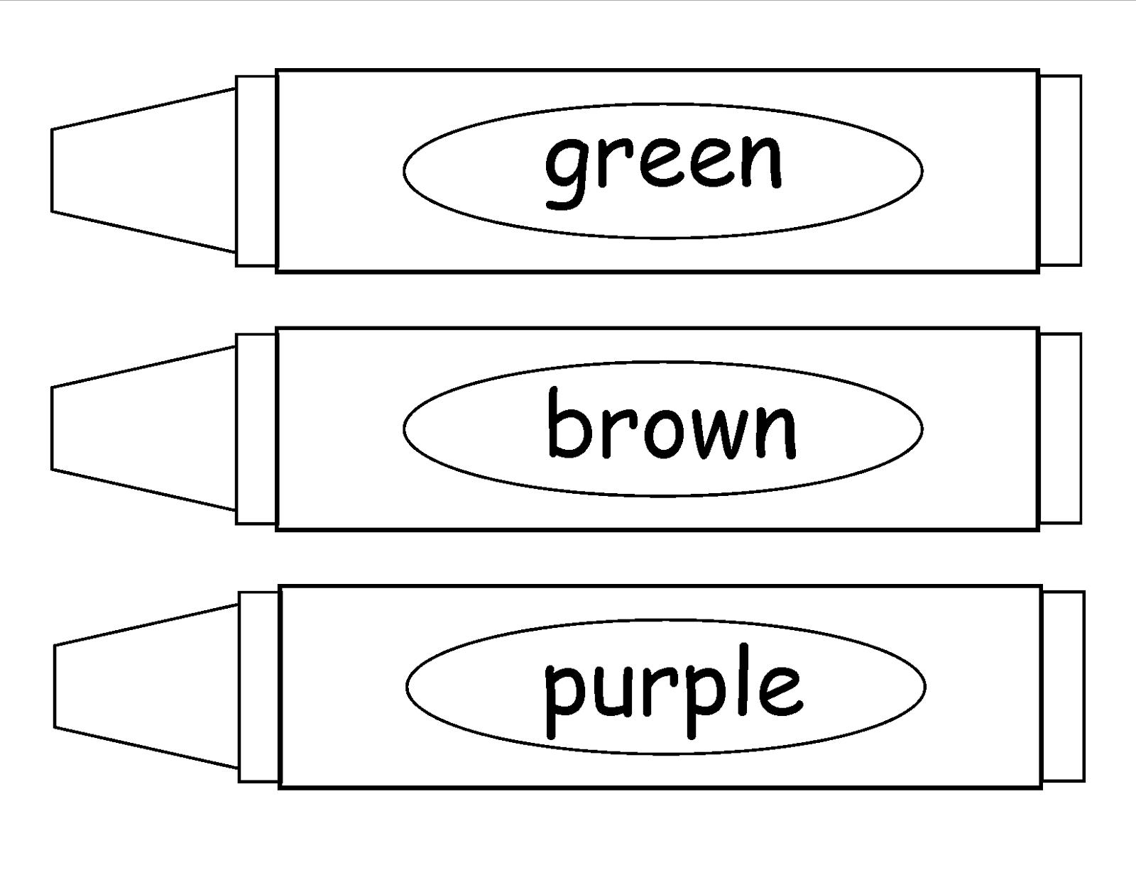 Crayola Crayon Outline
