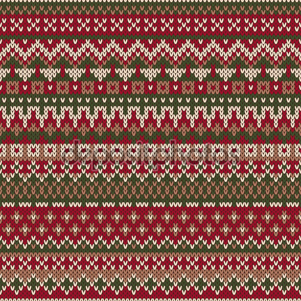 Knitting Holidays Shetland : Christmas sweater design seamless knitted pattern in