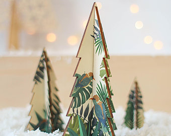 Wooden Christmas Tree Etsy In 2020 Christmas Tree Set Wooden Christmas Trees Modern Christmas