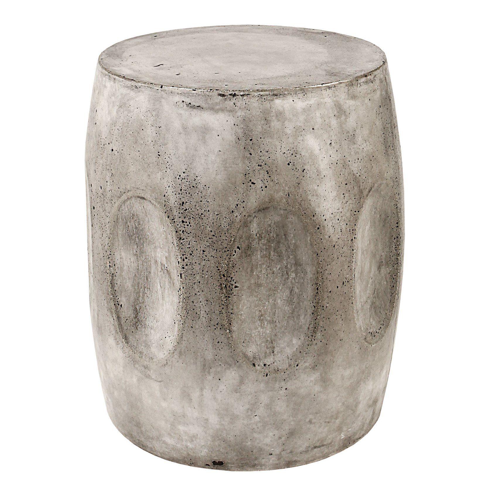 Amazing Aria Waxed Concrete Stool