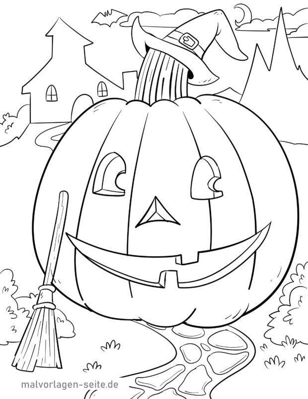 malvorlage halloween  feiertage  ausmalbilder kostenlos