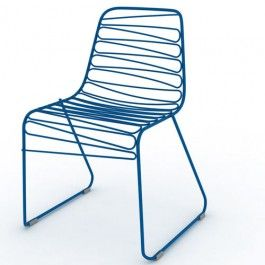 Flux is a stacking chair with soft, smooth, zig-zag  lines.http://www.utilitydesign.co.uk/magis-flux-chair