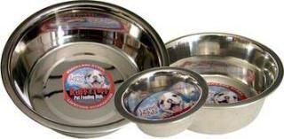 Loving Pets Striped Stainless Steel Dish 5 Qt.