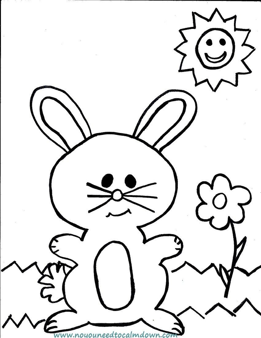 Easter Bunny Coloring Page for Kids - Free Printable | Easter bunny ...
