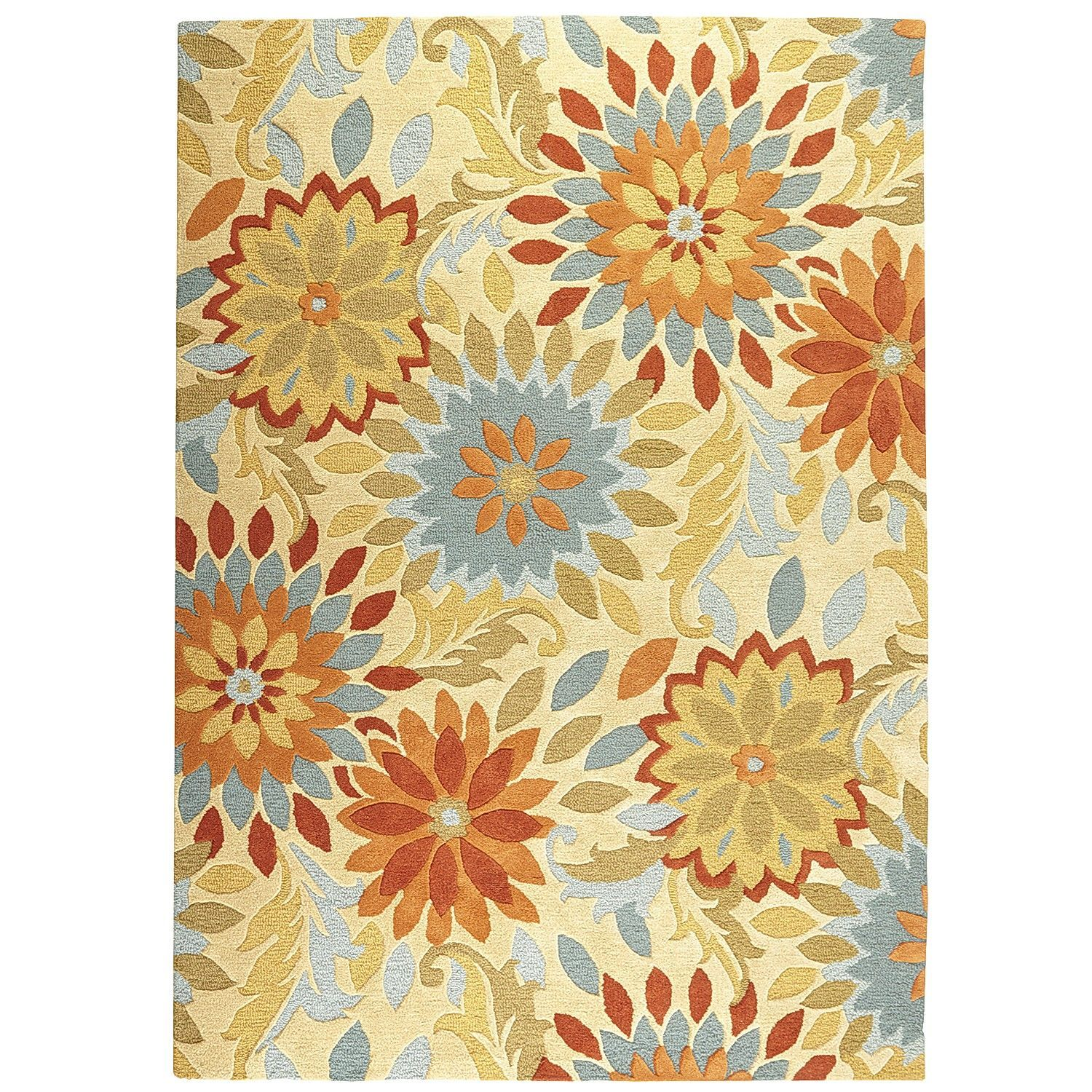 Exceptional Dazzle Floral Rugs   Persimmon | Pier 1 Imports