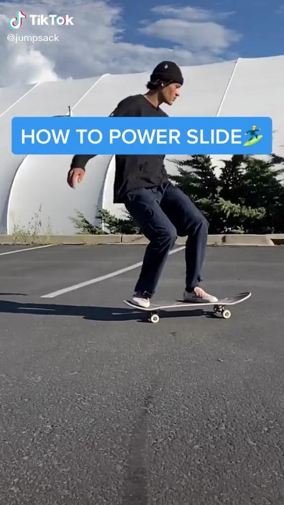 Jumpsack Power Slide Video In 2020 Skateboard Girl Skateboarding Tricks Skateboard