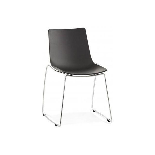 chaise noire design tikal declikdeco - Chaise Noire Design