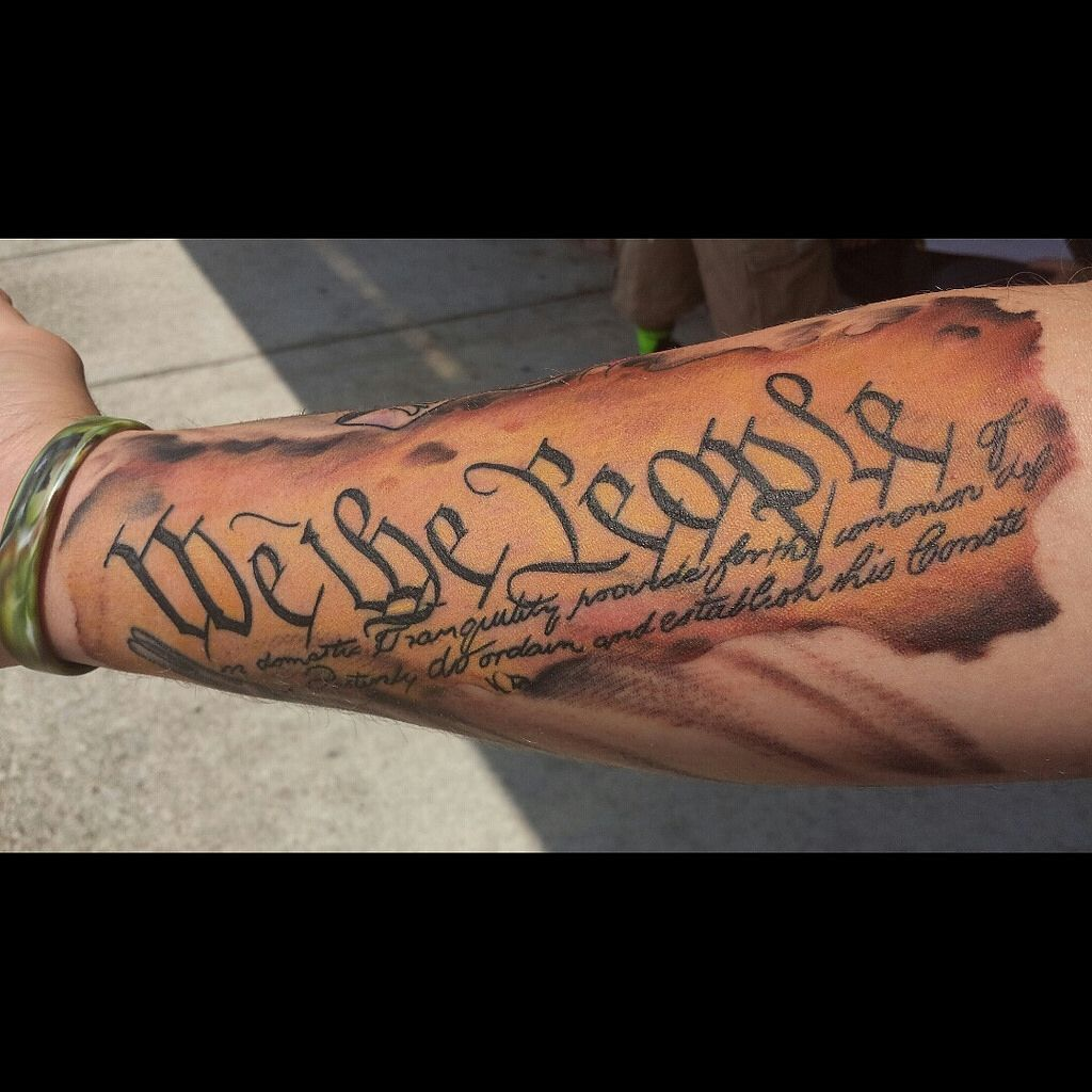 We the people of the united states of america tatts for United states tattoo