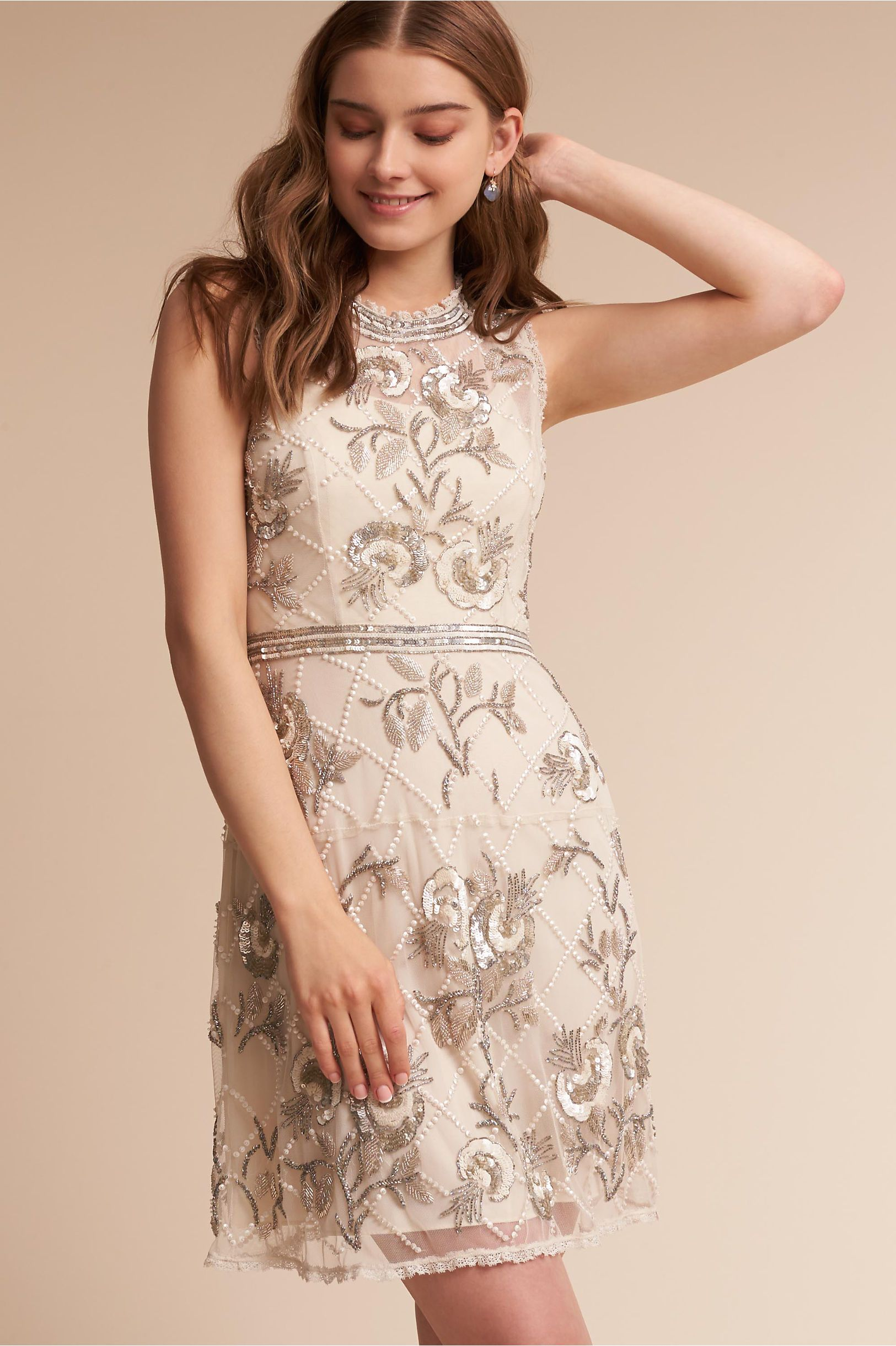 Little white wedding dress  BHLDN Mariposa Dress Champagne in Sale  BHLDN  Bridesmaids