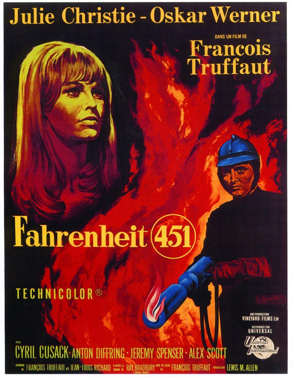 Fahrenheit 451, movie poster - Julie Christie - 1966.