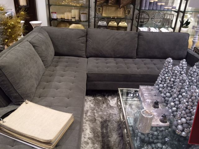 Dark grey sectional Z Gallerie : dark gray sectional - Sectionals, Sofas & Couches