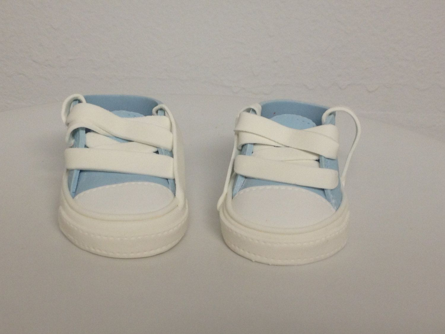 Baby boy tennis shoes made out of gum paste by SimplySweetShopNOLA ...