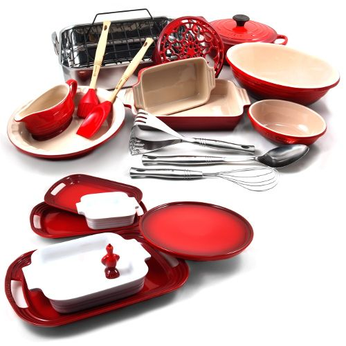 Le Creuset Cherry Ultimate Holiday Meal Kit with Free Trivet $799.99