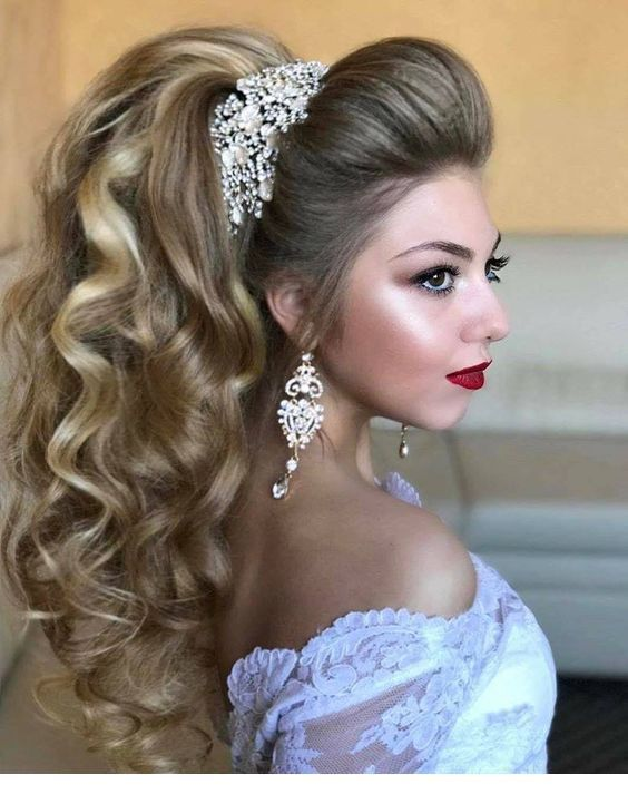 Wedding hair with volume