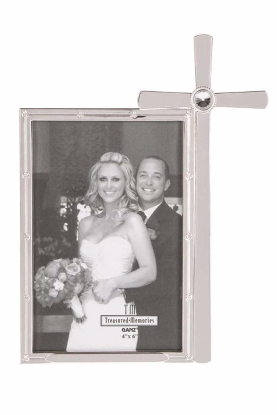 "Silver cross frame that Holds 4"" x 6"" photo.    Dimensions: 6"" W. x 8"" H.   Cross Wedding Frame by Ganz. Home & Gifts - Home Decor - Frames Alabama"