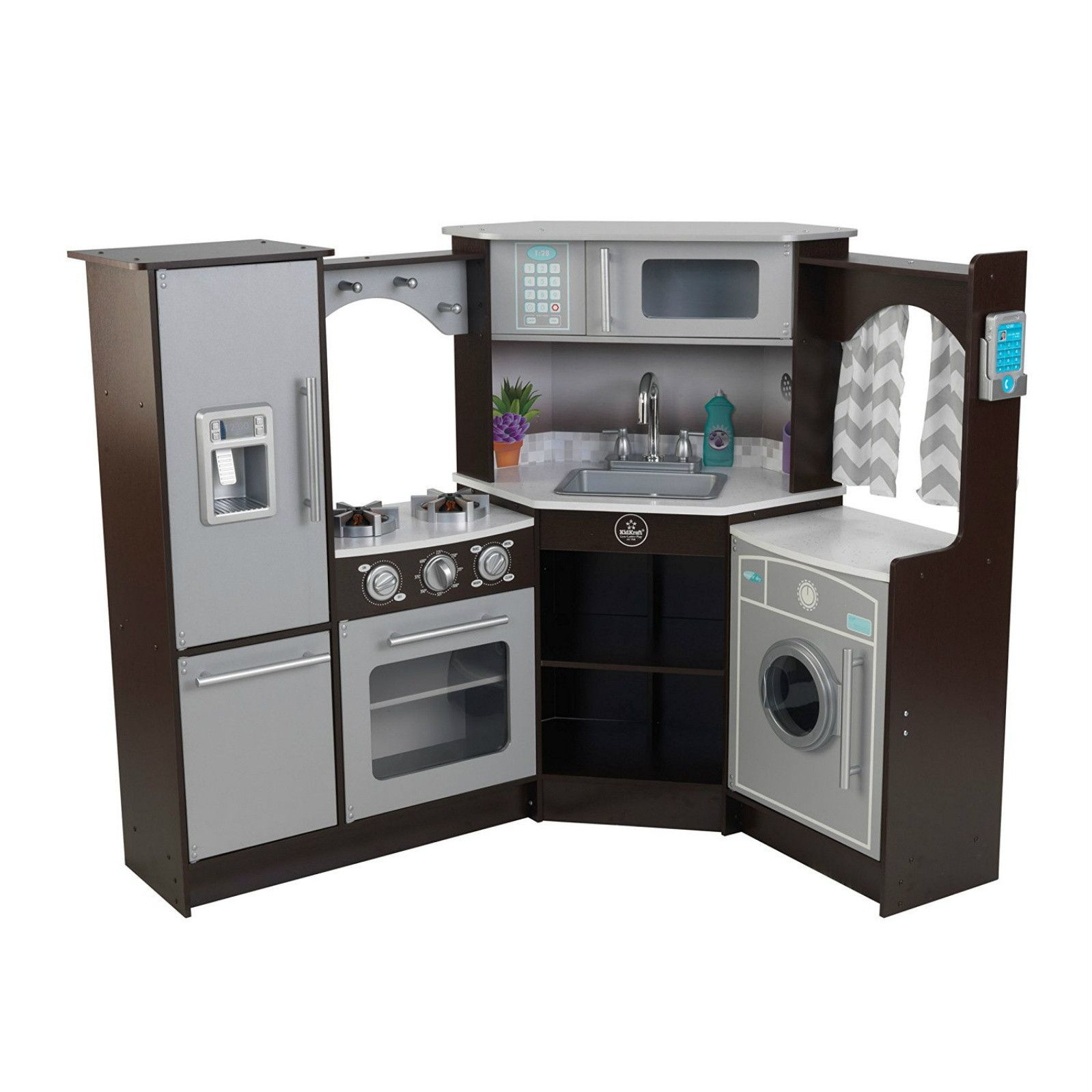 Wooden Play Kitchen DIY in 2019 Play kitchen sets