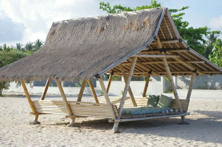 Bamboo nipa hut pinterest bambus for Traditionelles haus bali