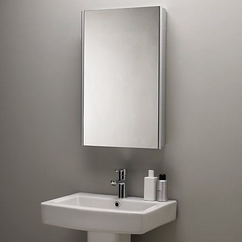 furniture itm mm storage mirror cabinet gloss x modern bathroom white