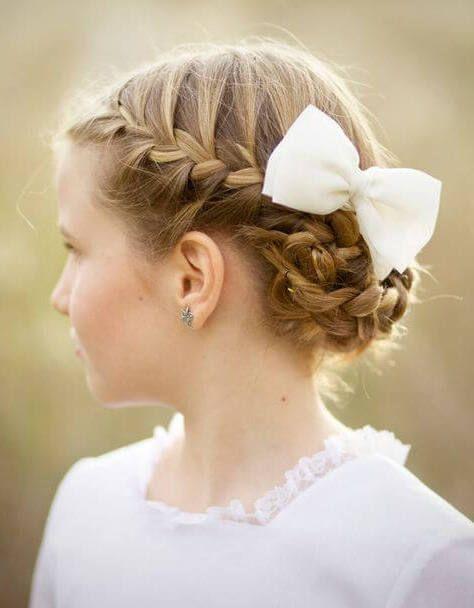 Precioso y sencillo pelo para comunion peinados de - Peinados sencillos para comunion ...