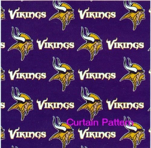 Minnesota Vikings Nfl Logo Shower Curtain 72X72 Free Us Shipping